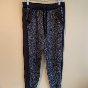 Hollister Black and Grey Patterned Joggers